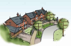 Artist Impression of Housing